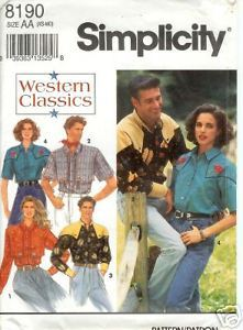 Primary image for Simplicity 8190 Misses' and Men's Western Shirt