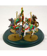 HALLMARK 1989 CHRISTMAS CAROUSEL HORSES & DISPLAY HOLLY GINGER SNOW STAR - $24.39