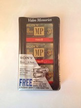3 SONY P630MP METAL 8MM VIDEO CASSETTES WITH VIDEO MEMORIES CASE - $9.95