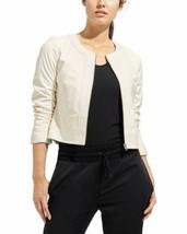 Athleta & Derek Lam Dove Sleek Leather Jacket size LARGE retail $498 - $193.49