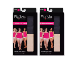 Women's Camisoles Plus Size Fruit Of The Loom Fit For Me Set 4 Black Nud... - $20.48