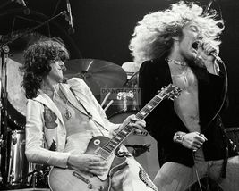 Led Zeppelin Robert Plant Jimmy Page HM Vintage 16X20 BW Music Memorabil... - $29.95