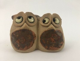 Vtg Made in England Ceramic Stoneware Owl Figurine 1970's Miniature - $12.16