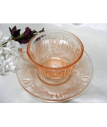 2174 Antique Federal Pink Sharon Cup N Saucer - $17.00