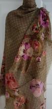 "NWT GUCCI Pink Oshibana GG floral 100% wool X-large scarf shawl 55"" x 55"";  - €319,21 EUR"