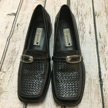 Brighton Joslyn Womens Bench-Made Black Leather Loafers Heels Shoes Sz 6.5M - $20.79