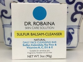 Dr Robaina Sulfur Balsam-Cleanser Acne Soap, Fragrance Free,  3oz - $12.86