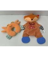 plush baby toys Manhattan fox teether lovey Boppy mini orange stuffed crab - $14.84