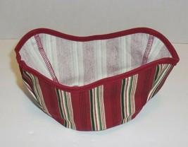 Longaberger Gumdrop Basket Liner ONLY New Holiday Stripe 28179166 - $12.86