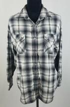 Vince women S plaid blouse long sleeve button down top cotton - $29.74