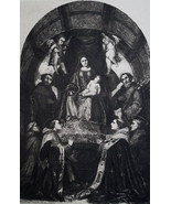 MADONNA Enthroned with Saints Bay Christ by Romanino - 1888 Etching Print - $16.20
