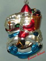 Department 56 Mercury Glass Rocking Horse Santa Ornament - Dept 56 - MIB - $28.01