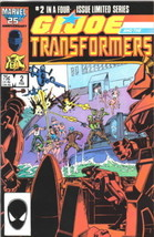 G.I. Joe And The Transformers Comic Book #2 Marvel 1987 Very Fine+ Unread - $5.48