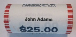 2007 John Adams Dollar Roll $25 BU 25 coin Unopened Roll – CP8434 - $34.50