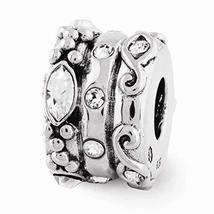 Sterling Silver s Swarovski Elements Fancy Bali Bead by Reflection Beads - $47.34
