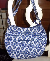 Vera Bradley Carry All Crossbody shoulder bag in Cobalt Tile - $35.00