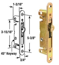 Sliding Glass Patio Door Mortise Latch with 45 Degree Keyway - $26.68
