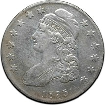 1835 Capped Bust Silver Half Dollar 50¢ Coin Lot# A 426