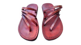 Leather Sandals for Women RAINBOW by SANDALIM Biblical Greek Roman Sandals - $40.36 CAD+