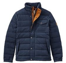 Timberland Men's Mt Davis Waxed Down Jacket, Dark Sapphire. Size: L - $180.00