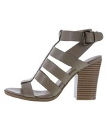 American Eagle WILDER Faux Leather Strappy Heels Taupe Light Brown Size ... - $26.24