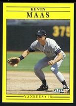 1991 Fleer Baseball #672 Kevin Maas - $1.65