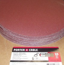 Porter Cable 79120-25 120G Hook & Loop Drywall Sanding Discs Fine Grit 25pk - $22.77