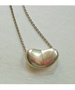 "Classic Tiffany Sterling Silver 925 Bean Necklace 16"" Chain Elas Peretti - $159.40"