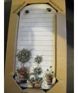 Kitchen Ceramic Dry Erase Memo Board 9in x 4in Vintage NIB - $13.71