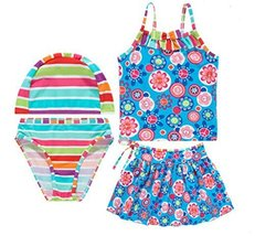 Girls Swimwear Two Piece Swimsuits of Kids Blue