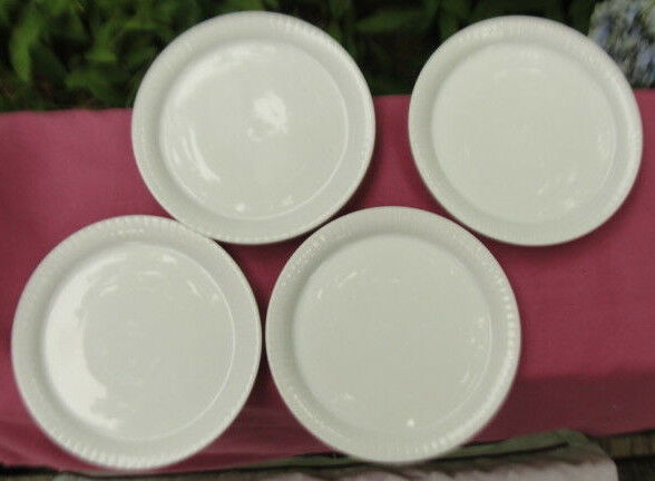 Primary image for Set of Four (4) ROSENTHAL China - MODULATION Pattern (all white) - COASTERS