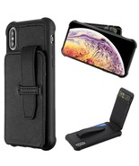 iPhone XS Max XR 8 7 PLUS Leather ID Wallet Case Cards Holder Buckle Pou... - $8.89