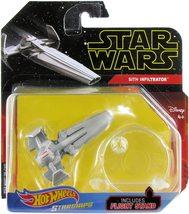 Star Wars Hot Wheels Starships : Sith Infiltrator ( 2018 cardback ) - $15.99