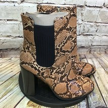 Kenneth Cole Womens Snake Print Block Heel Ankle Boots Size 7 M - $32.34