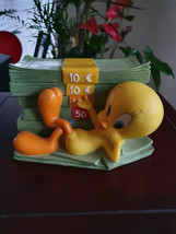 Extremely Rare! WB Looney Tunes Tweety Rich Bird Figurine Bank Statue - $267.30