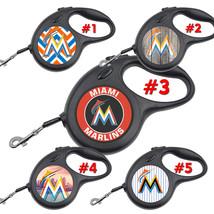 Miami Marlins Retractable Dog Leash tangle free upto 110 lb pet leashes #1 - $22.30+