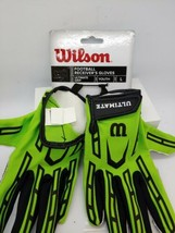 """Wilson Ultimate Grip Football Receiver Gloves Youth Size """"Large"""" WTF9311GBL - $15.83"""