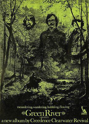Primary image for Creedence Clearwater Revival - Green River - 1969 - Album Release Promo Poster