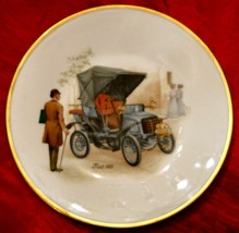 Hutschenreuther Porcelain Plate Gold Rim 1901 Fiat Antique Car Dresden B... - $29.65
