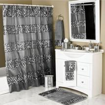 Sparkly Shower Curtain Unique Sequin Fabric Bling Sparkle Gorgeous Bathroom - $38.95