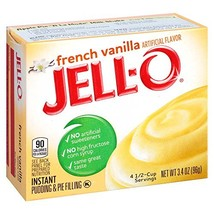JELL-O Instant French Vanilla Pudding & Pie Filling Mix 3.4 oz Box, Pack of 6
