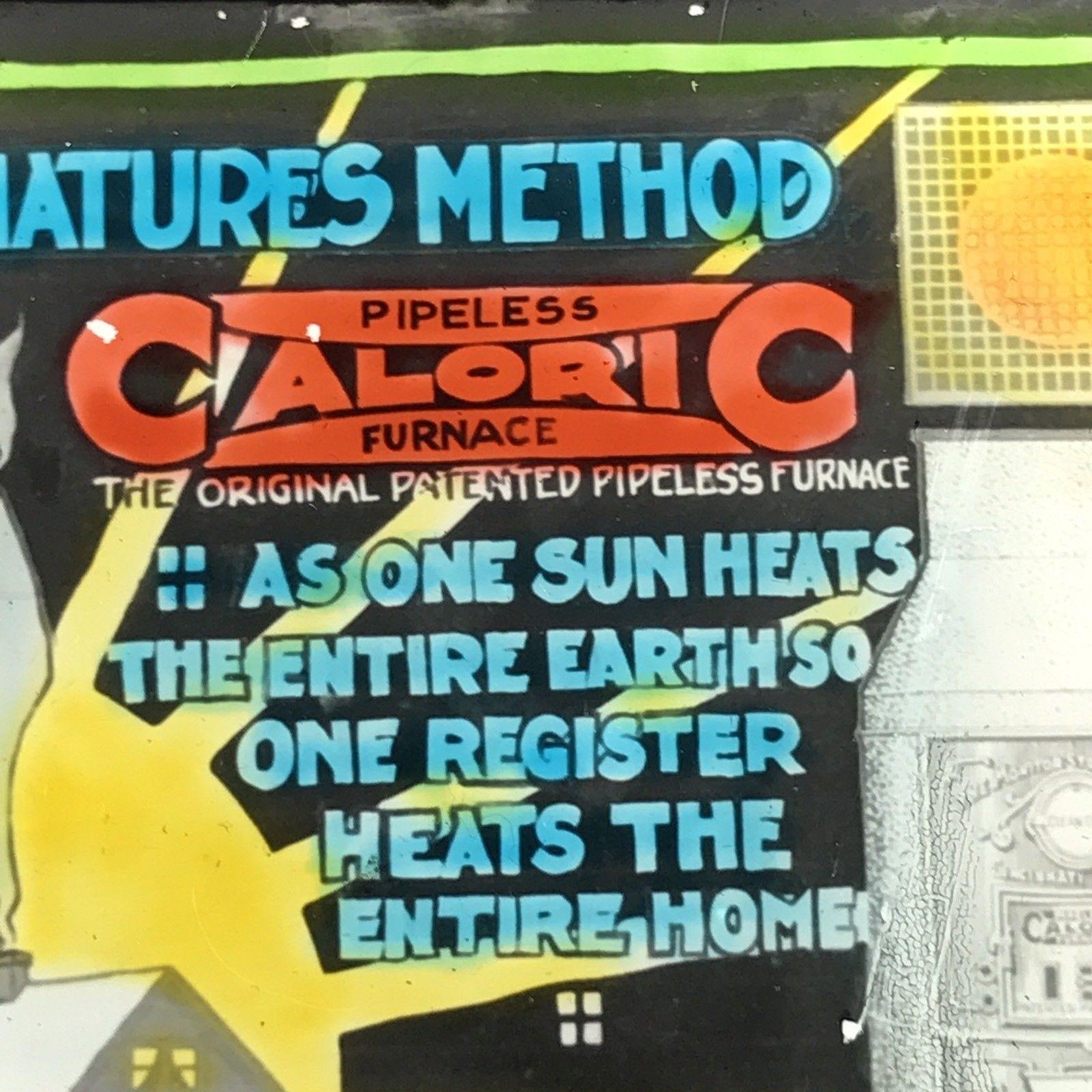 Vtg Magic Lantern Glass Slide Caloric Stove Advertising By Natures Method