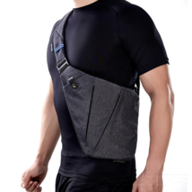 Messenger Bags Cross Body Chest Shoulder Men Slim Daypack Outdoor Hiking... - $18.95