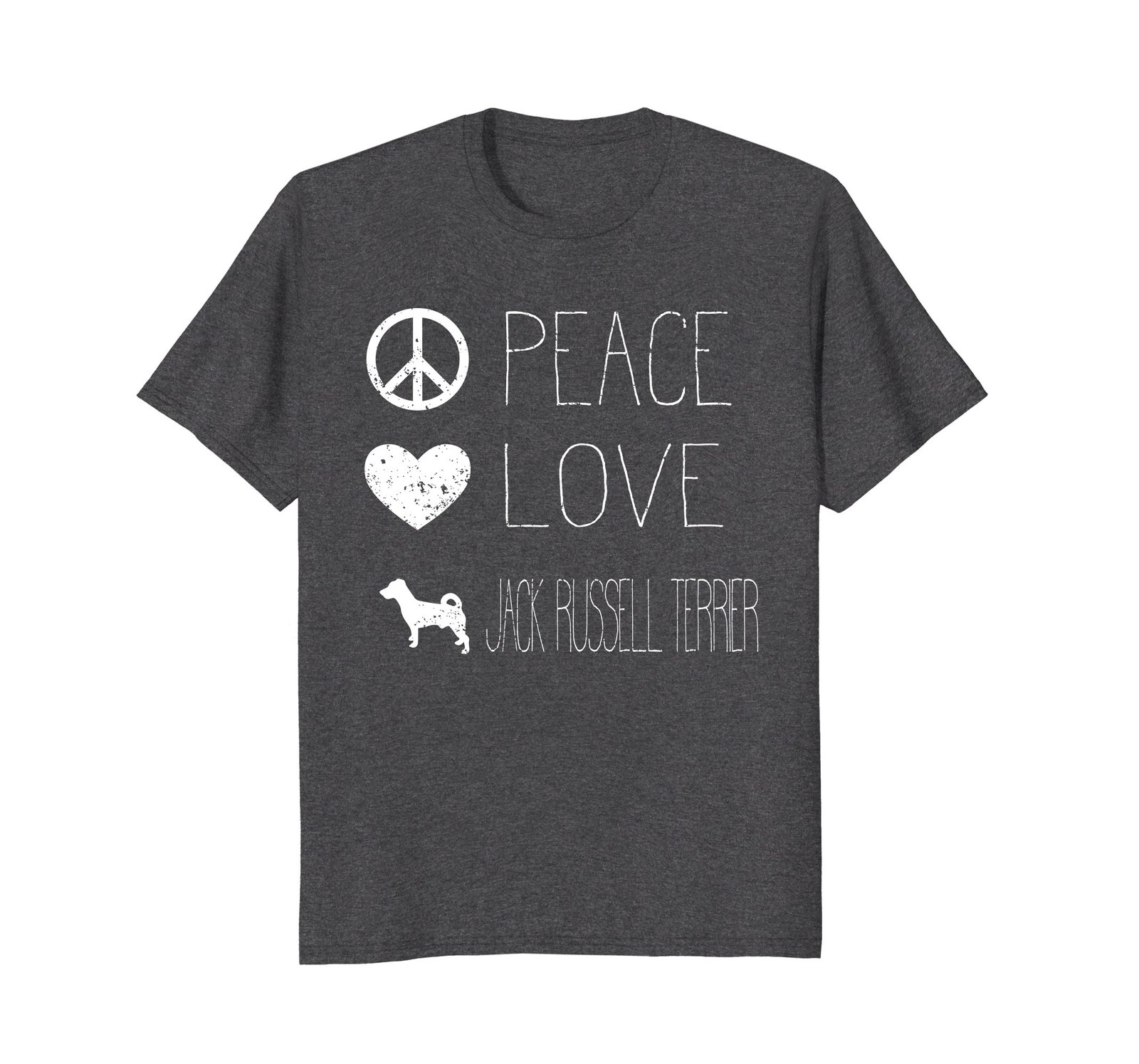 Peace Love And Dogs Shirt Jack Russell Terrier Shirt