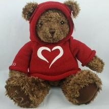 """Gund 2000 Millennium Love Bear 25"""" Plush Brown Teddy Red Sweater Hoodie  - $26.61"""