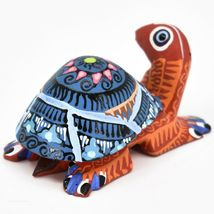 Handmade Alebrijes Oaxacan Copal Wood Carving Painted Folk Art Turtle Figurine image 3