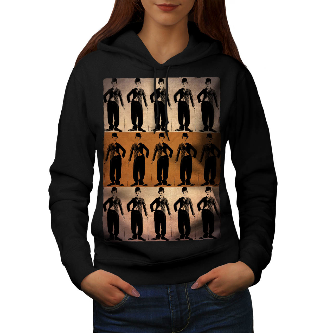 Charlie Chaplin Art Sweatshirt Hoody Star Actor Women Hoodie - $22.99 - $23.99