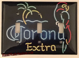 Corona Extra Beer neon Logo Light Switch Outlet Wall Cover Plate Home decor image 4