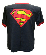 Superman Ringer T Shirt Large 100% Cotton Free Shipping - $15.00