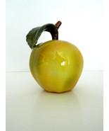 Green Apple Ceramic Art Sculpture Artist Mariusz Dydo Poland New - $98.95